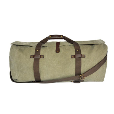 Bellemonde Bellemonde - Canvas Duffle - Washed Green