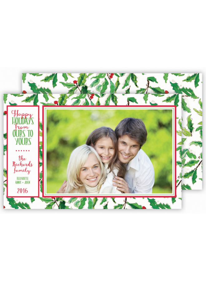 Rosannebeck - Holly & Berries Photo Card