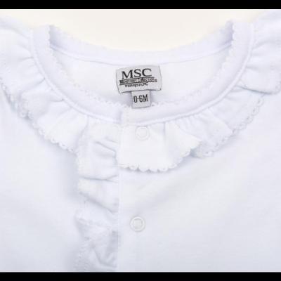 Mainstreet Collection White Ruffle Onesie