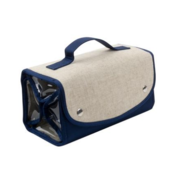 Mainstreet Collection Linen Roll Up Cosmetic