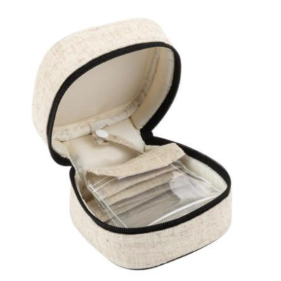 Mainstreet Collection Linen Jewelry Cube