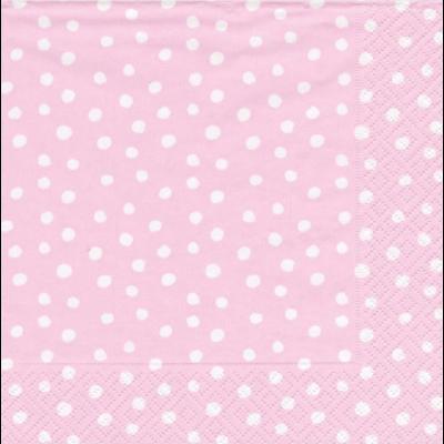 Caspari Cocktail Napkin - small dots pink