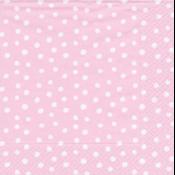 Caspari Luncheon napkin - Small dots pink