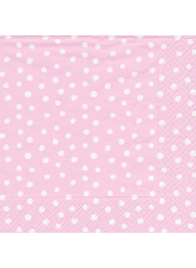 Luncheon Napkin - Small Dots Pink