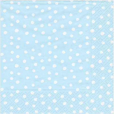 Caspari Luncheon napkin - Small dots blue