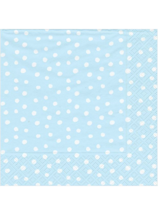 Luncheon Napkin - Small Dots Blue