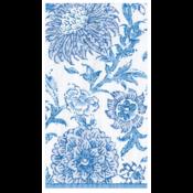 Caspari Guest Towel - Indiennes Blue