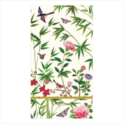 Caspari Guest Towel - Chinese Wallpaper
