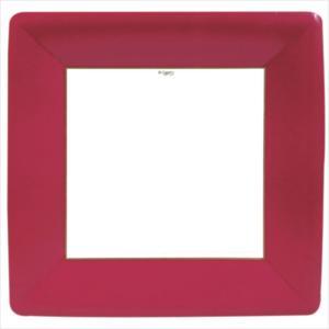 Caspari Dinner Plate - Red