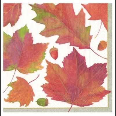 Caspari Luncheon Napkin - Watercolor Leaves