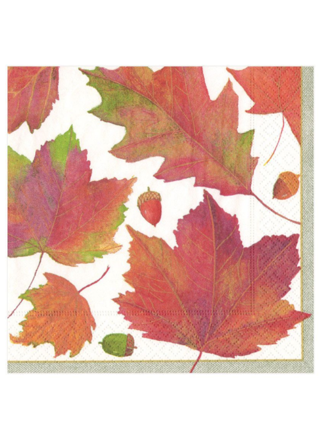 Luncheon Napkin - Watercolor Leaves