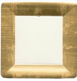 Caspari Dinner Plate - Gold Leaf