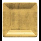 Caspari Salad Plate - Gold Leaf