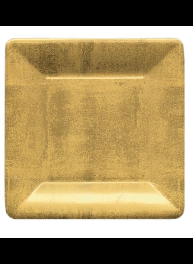 Salad Plate - Gold Leaf