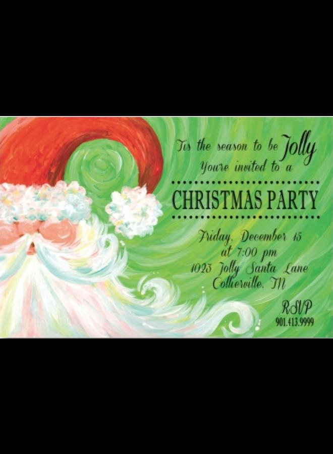 Address to Impress - Swirly Santa