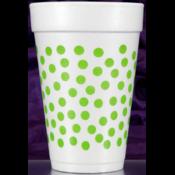 Print Appeal Foam Cups - green dot