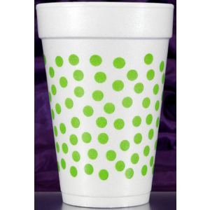 Print Appeal Foam Cups - green dot