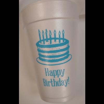 Print Appeal Foam Cups - Happy Birthday