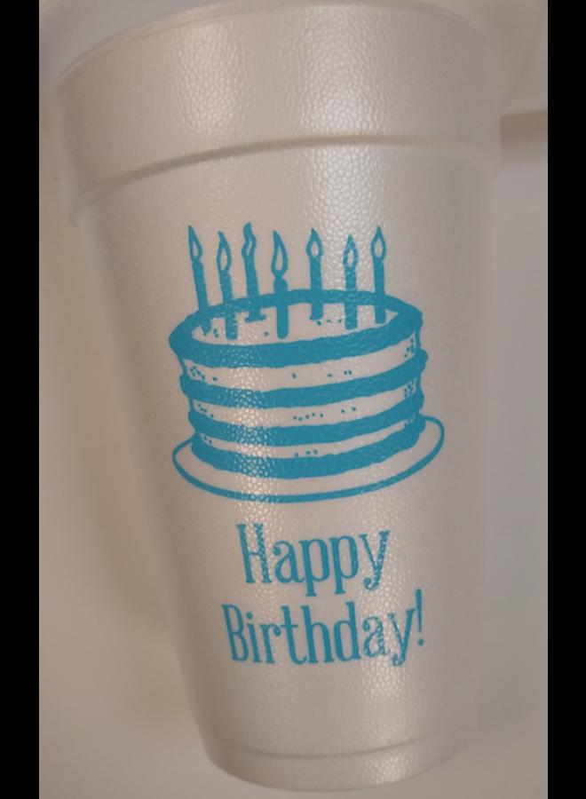 Foam Cups - Happy Birthday