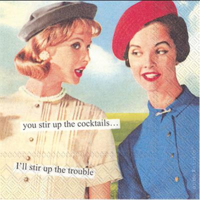 Boston International Cocktail Napkin - Stir Up