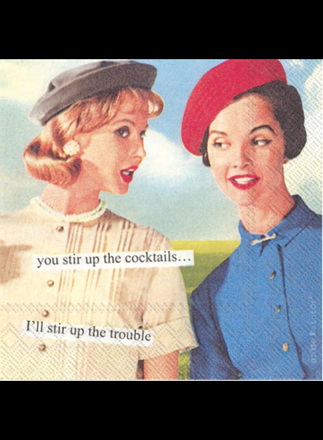 Cocktail Napkin - Anne Taintor Stir Up
