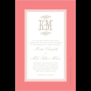 Paper Belle Paper Belle - Coral Linen Frame