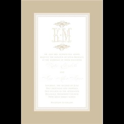 Paper Belle Paper Belle - Tan Linen Border