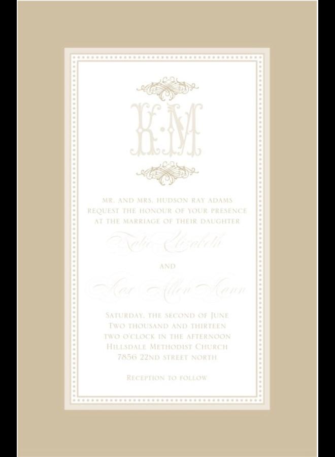 Paper Belle - Linen Border Tan