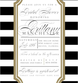 Paper Belle Paper Belle - Black Horizontal Stripe