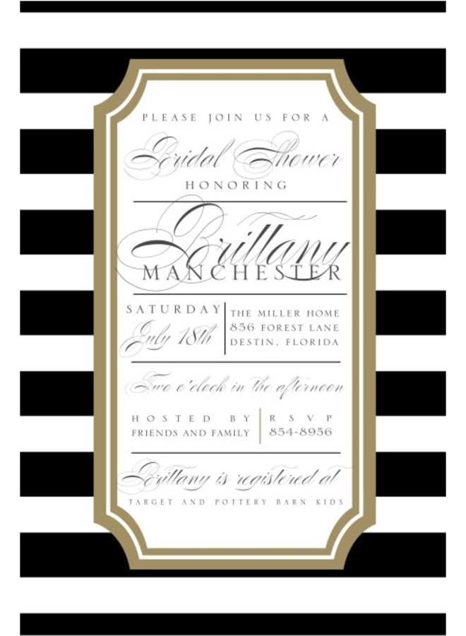 Paper Belle - Black Horizontal Stripe