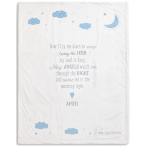 Nat & Jules Goodnight Prayer Blanket - Blue