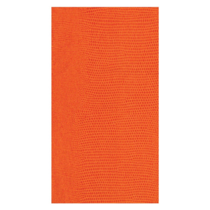 Caspari Guest Towel - Lizard Orange