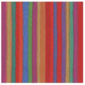 Caspari Cocktail Napkin - Balthazar Stripe