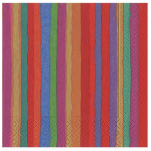 Caspari Cocktail Napkin - Balthazar Stripe