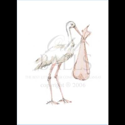 Odd Balls Odd Balls - Pink Stork w/ Ribbon