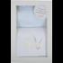 3 Marthas Bib & Burp Set Blue Bunny
