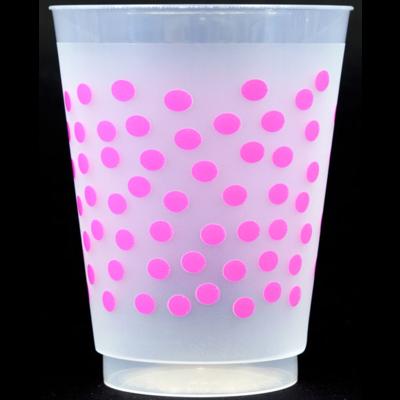 Foam Cups - pink dot