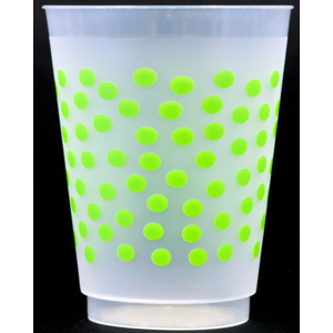 Shatterproof Cups - green dot