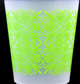 Print Appeal Foam Cups - Green Filigree