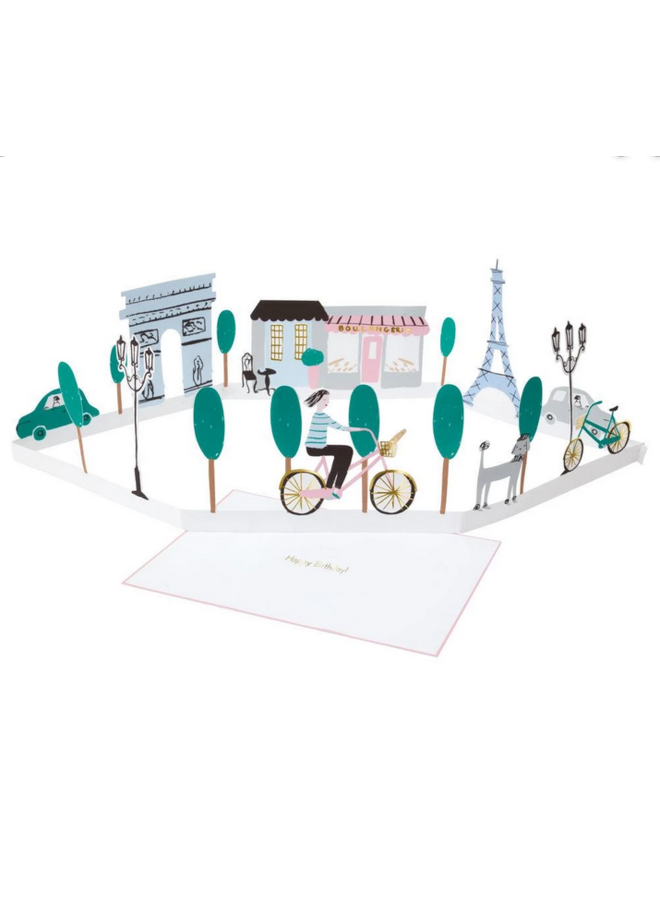 Greeting  Card - Paris Stand-Up