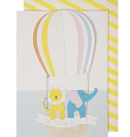 Meri Meri Greeting Card - Hot Air Balloon Congratulations