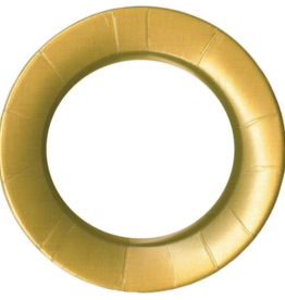 Caspari Dinner Plate - Linen Gold