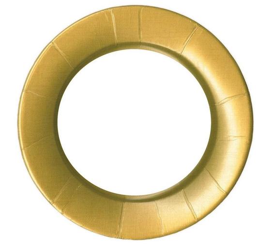 Caspari Salad Plate - Linen Gold