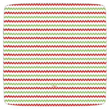 Caspari Salad Plate - Rickrack Red/Green
