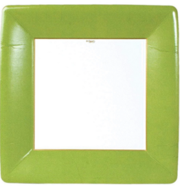 Caspari Dinner Plate - Moss Green