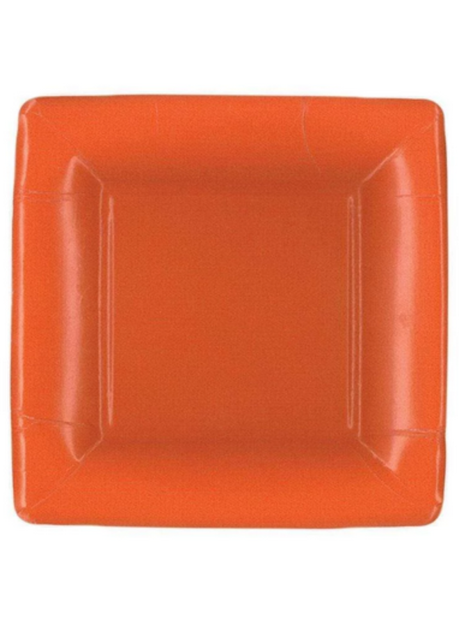 Salad Plate - Deep Orange