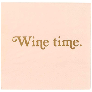 CR Gibson Cocktail Napkin - Wine Time