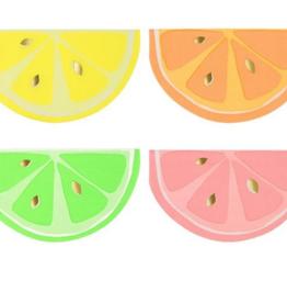 Meri Meri Die-Cut Napkin - Neon Citrus