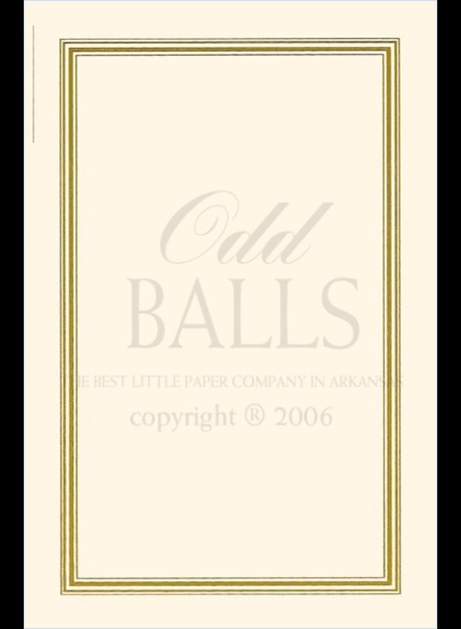 Odd Balls - Ecru Border Gold