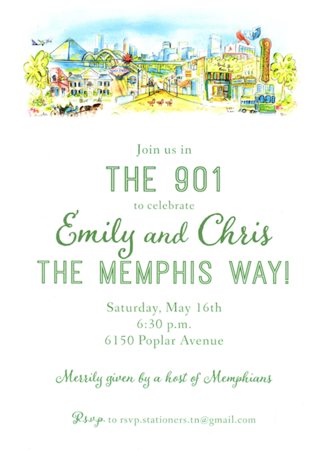 Address to Impress - Memphis Skyline
